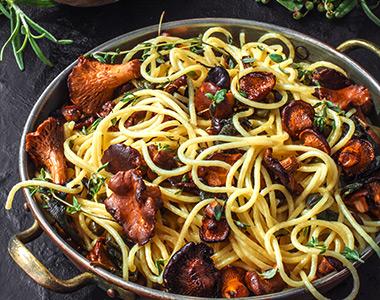 Bacon and mushroom pasta